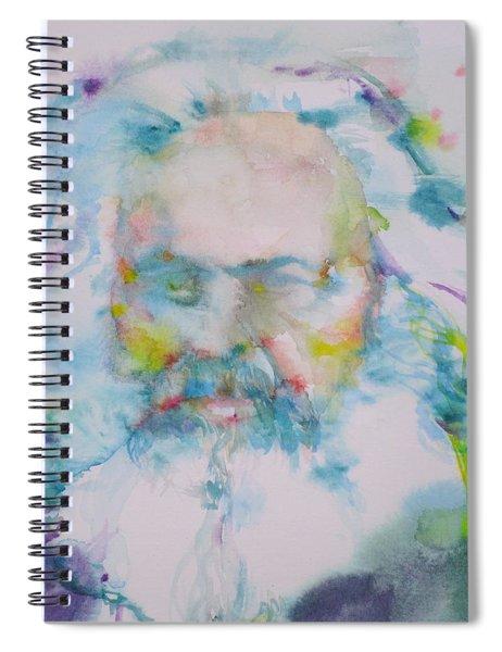Karl Marx - Watercolor Portrait Spiral Notebook