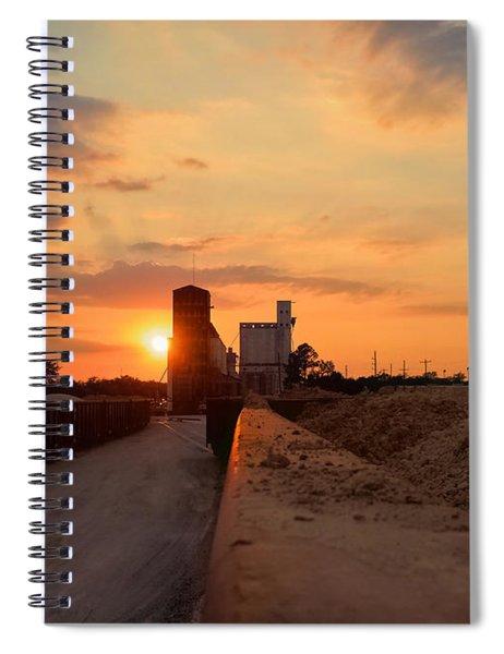 Katy Texas Sunset Spiral Notebook