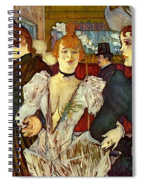La Goulue Arriving At The Moulin Rouge With Two Women Spiral Notebook