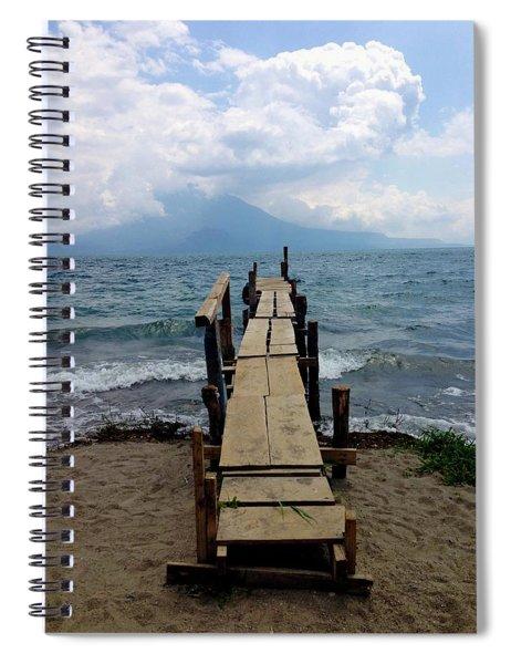 Lake Atitlan Dock Spiral Notebook