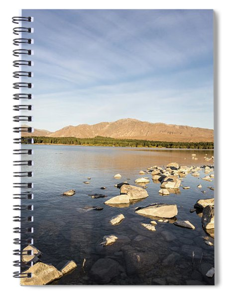 lake Tekapo on a late summer afternoon in New Zealand  Spiral Notebook
