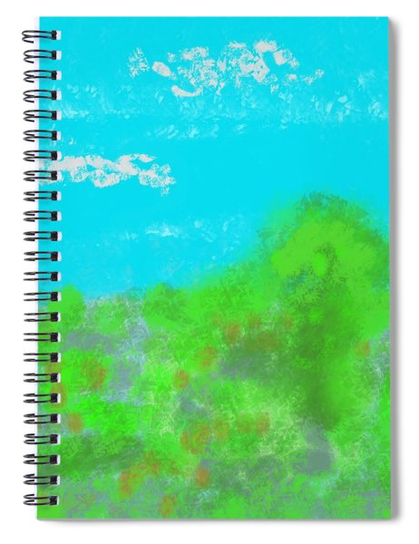 Landscapes Of The Past Spiral Notebook