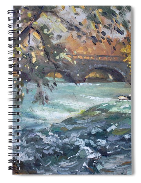 Late Afternoon By Niagara River Spiral Notebook