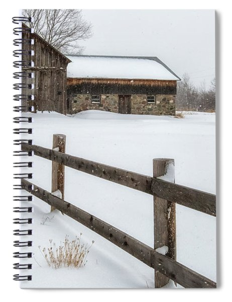 Spiral Notebook featuring the photograph Lawr Farm by Heather Kenward