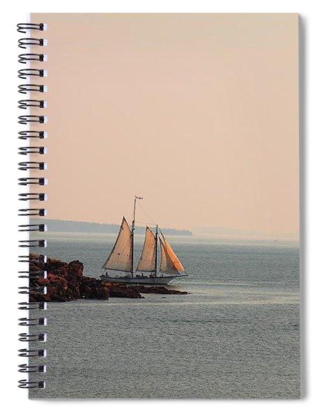 Leaving Camden Harbor Spiral Notebook