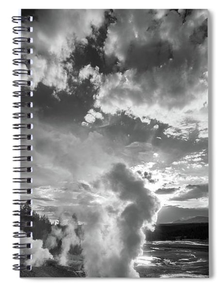 Ledge Geyser Yellowstone N P Spiral Notebook