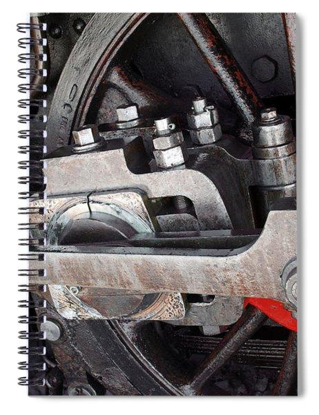 Locomotive Wheel Spiral Notebook