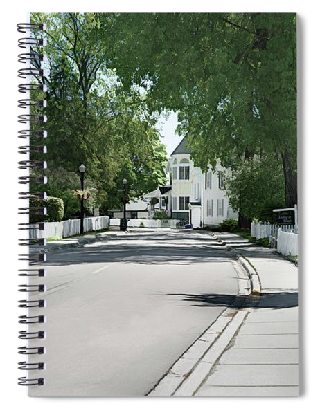 Mackinac Island Street  Spiral Notebook