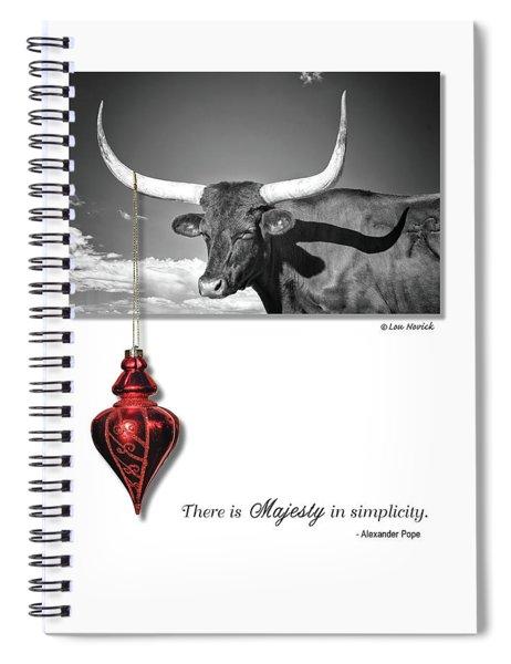 Majesty In Simplicity Spiral Notebook by Lou Novick