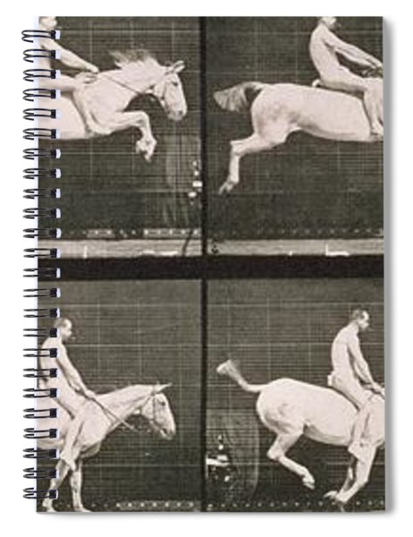 Man And Horse Jumping A Fence Spiral Notebook