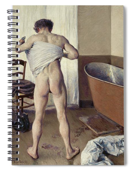 Man At His Bath Spiral Notebook