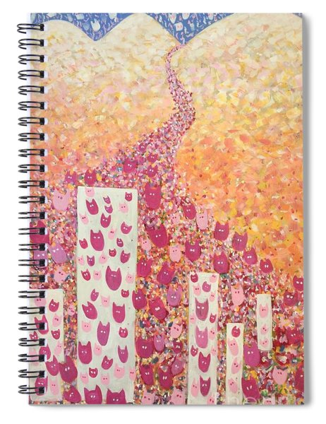 March Of The Pussy Cat Hats Spiral Notebook