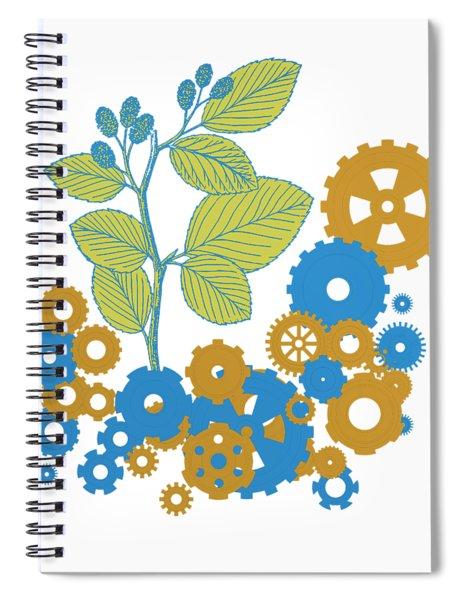 Mechanical Nature Spiral Notebook