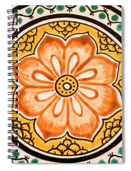 Mexican Tile Detail Spiral Notebook