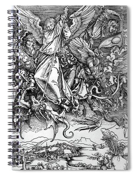 Michael Defeats Satan Spiral Notebook