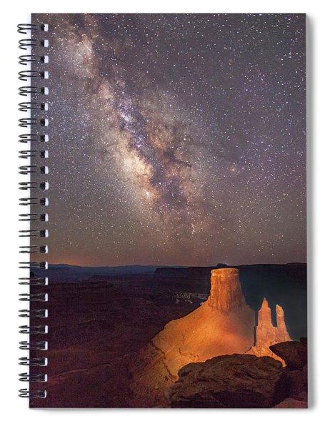 Milky Way At Marlboro Point Spiral Notebook