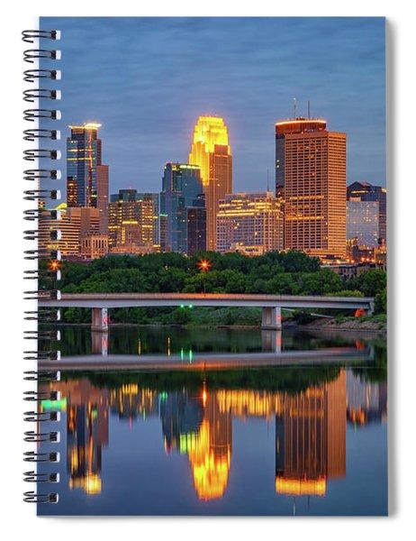 Minneapolis Twilight Spiral Notebook