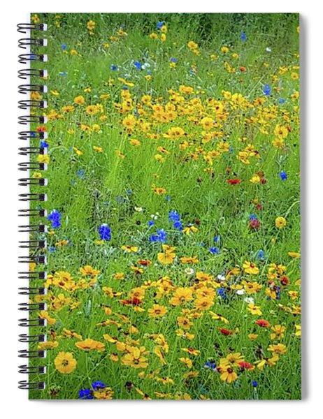 Mixed Wildflowers In Texas 538 Spiral Notebook