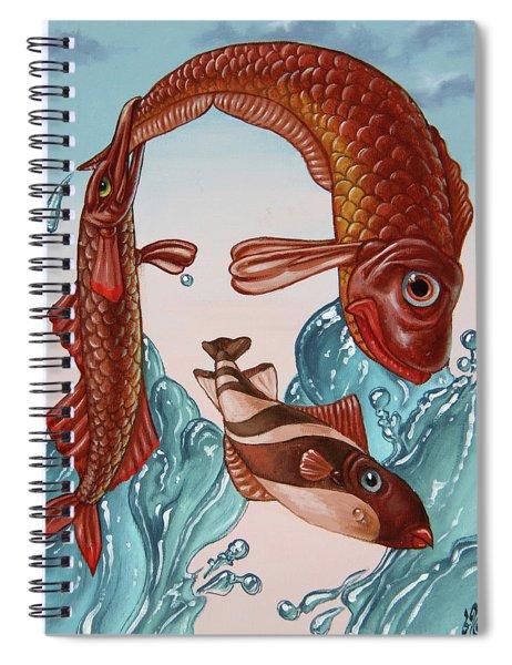 Mona Lisa. Water Spiral Notebook