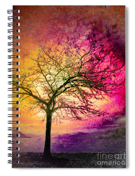 Morning Fire Spiral Notebook