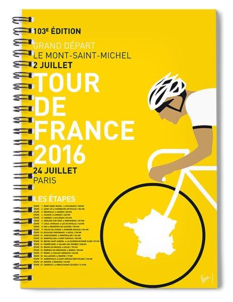 My Tour De France Minimal Poster 2016 Spiral Notebook