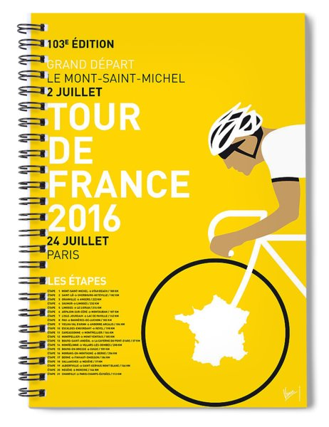 My Tour De France Minimal Poster 2016 Spiral Notebook