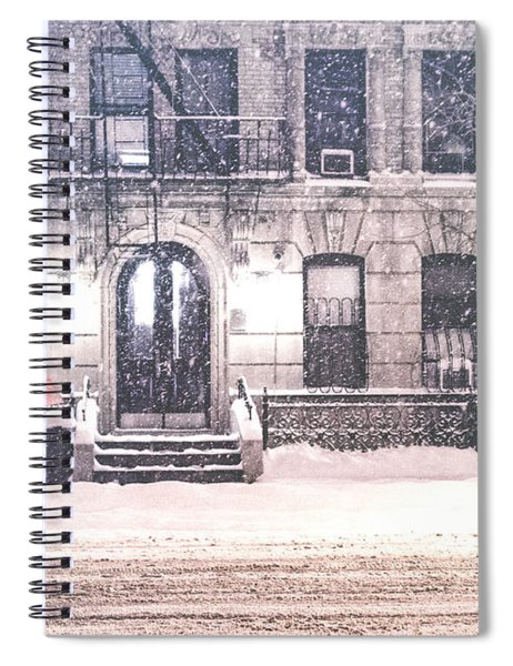 New York City Snow Spiral Notebook by Vivienne Gucwa