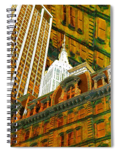 New York City Up Is Down Down Is Up Gold Spiral Notebook