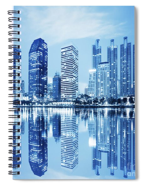 Night Scenes Of City Spiral Notebook