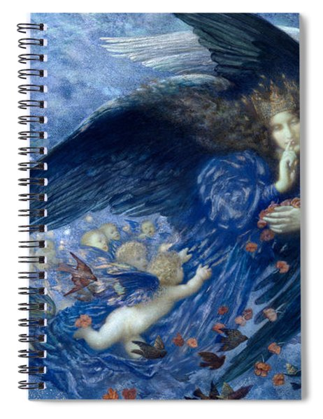 Night With Her Train Of Stars Spiral Notebook