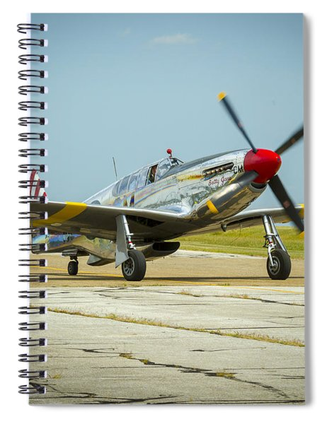 North American Tp-51c Mustang Spiral Notebook
