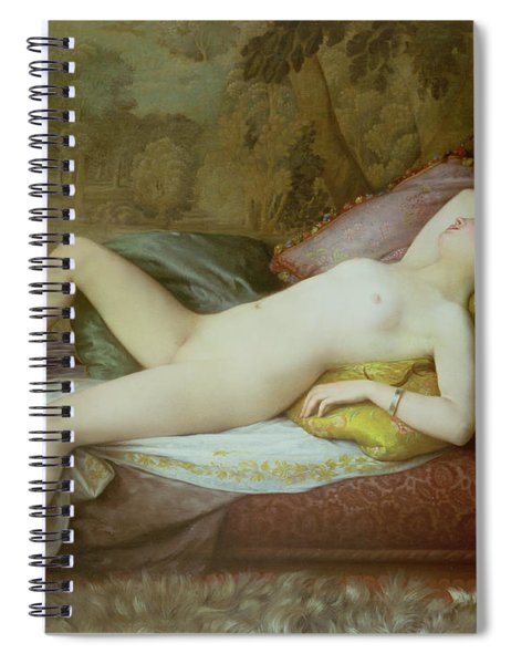 Nude Lying On A Chaise Longue Spiral Notebook