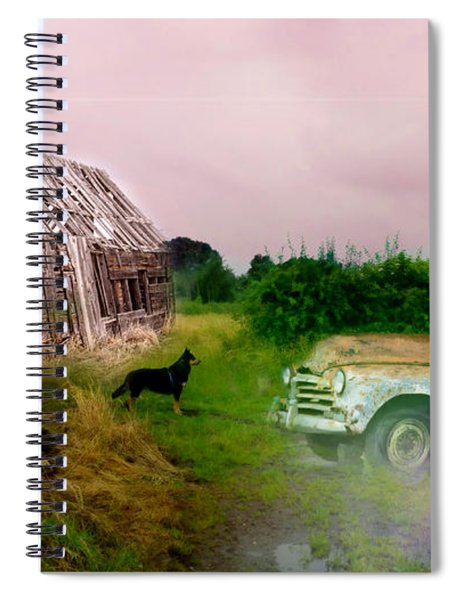 Spiral Notebook featuring the photograph Ol' Rusty by Alison Frank