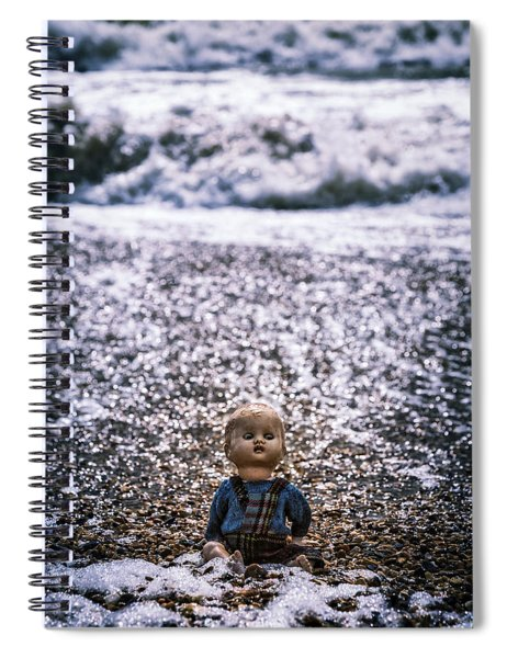 Old Doll On The Beach Spiral Notebook