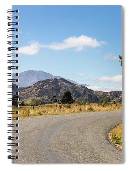 On The Road In New Zealand South Island Near Lake Monowai Spiral Notebook