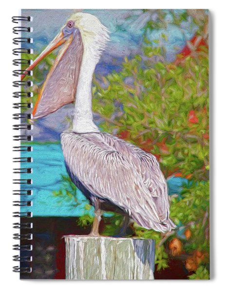 Open Mouthed Pelican Spiral Notebook