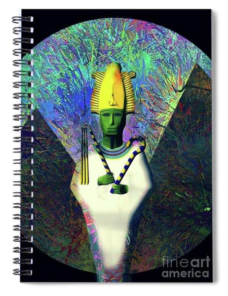 Osiris, God Of Egypt Spiral Notebook