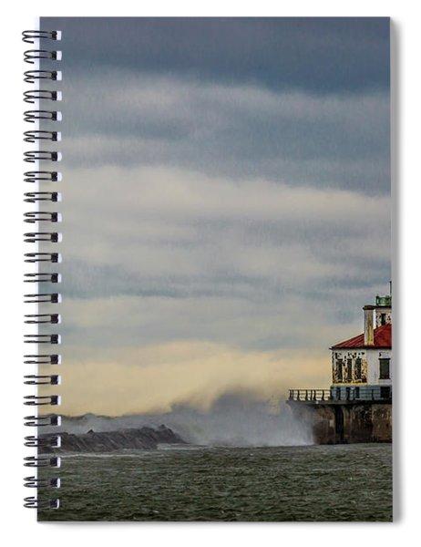 Oswego Harbor West Pierhead Light Spiral Notebook