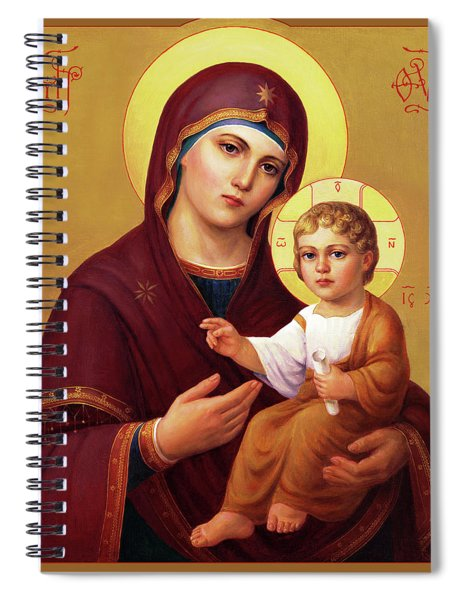 Our Lady Of The Way - Virgin Hodegetria Spiral Notebook