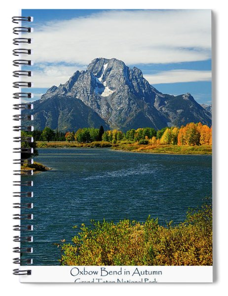 Oxbow Bend In Autumn Spiral Notebook