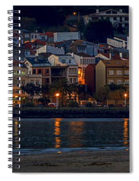 Panorama Of Cedeira Galicia Spain Spiral Notebook