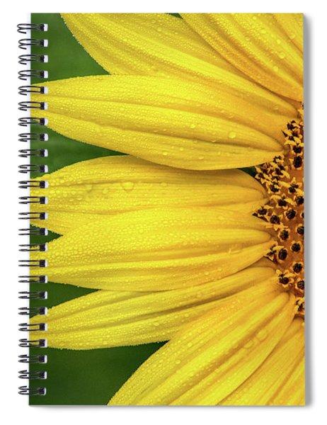Partial Sunflower Spiral Notebook