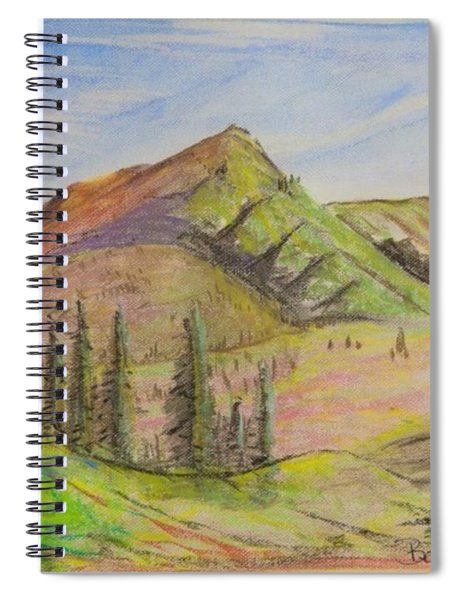 Pines On The Hills Spiral Notebook