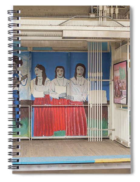Pink Line Spiral Notebook