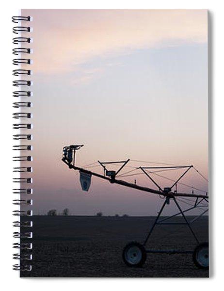 Pivot Irrigation And Sunset Spiral Notebook