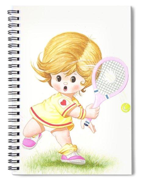 Playing Tennis Spiral Notebook
