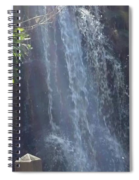 Powerful Beauty Of Waterfall Spiral Notebook
