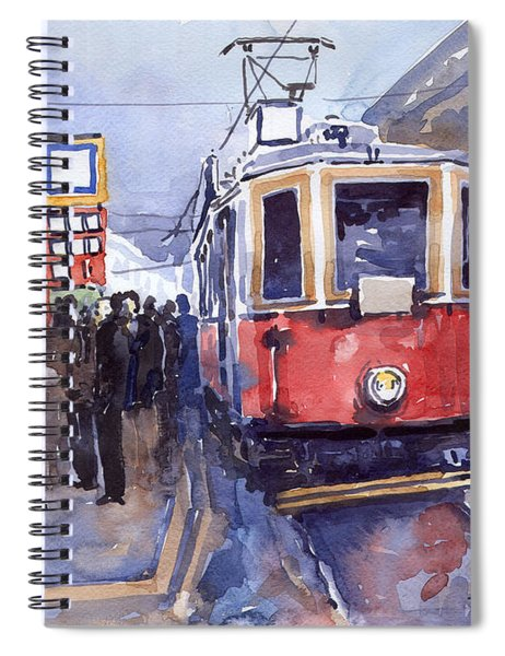 Prague Old Tram 03 Spiral Notebook