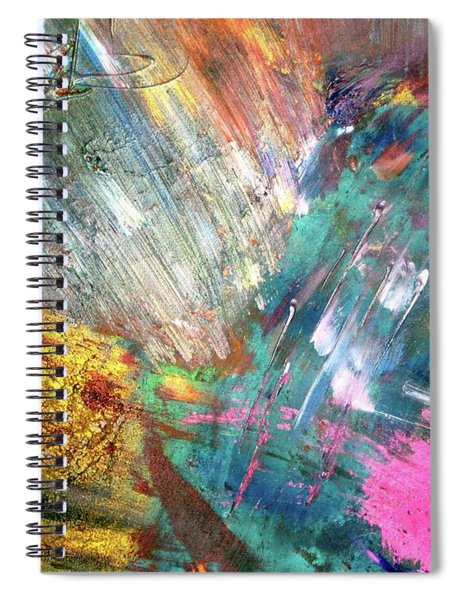 Spiral Notebook featuring the painting Prana by Michael Lucarelli
