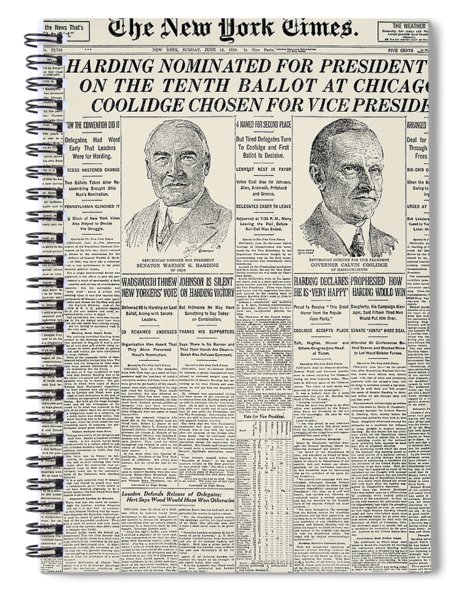 Presidential Campaign, 1920 Spiral Notebook